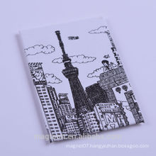 OEM directly pencil sketch tokyo tower design japan tourist souvenir tin plate fridge magnets for super market