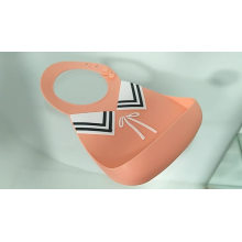 Free Silicone Baby Waterproof Bucket Bib Teether Detachable