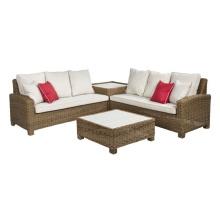 Сад Wicker секционные угловой ротанг Lounge патио диван