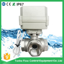Ss304 Stainless Steel Electric Motorised 3 Way Motorized Ball Valve