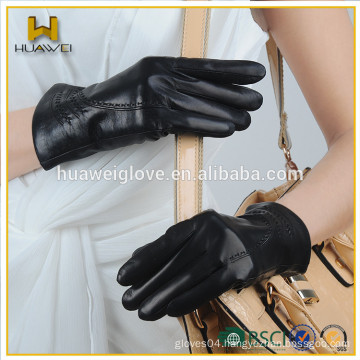 fashion basic genuine gloves sheepskin women's Touchscreen leather gloves