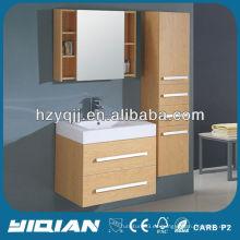 Gabinete moderno del espejo del cuarto de baño de la chapa con los estantes del doble que cuelga el gabinete de baño de la melamina de la pared