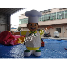 Lilytoys Rental Large Cook Man Inflatable Cartoon Pvc For Kids Entertainment , Lead Free