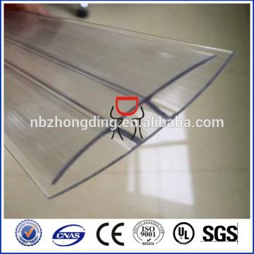 lexan u profiles für polycarbonat sheet / pc panel / pc sun sheet