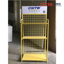Custom Metal Wire Floor Standing Display Shelf