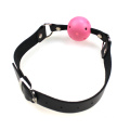 Good Quallity Leather Strap Mouth Red Ball Metal Link Multi-Color Bondage Gag
