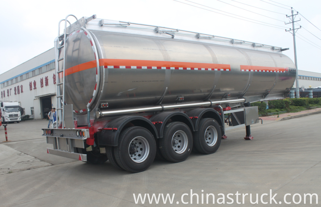 3 axle aluminum tanker semi-trailer for gasoline