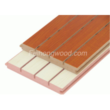 Grooved Melamine Faced MDF for Furniture or Decoration