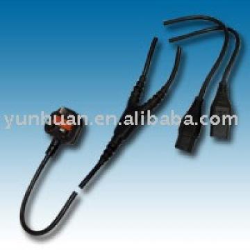Сплиттер Великобритании кабели типа шнур питания отдельный кабель Европа, которую американский didvid питания шнуры