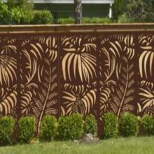 Laser Cut Metal Fences for Garden