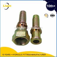 Con 2 años de garantía suministro de fábrica accesorios de tubería hidráulicos de alta presión montaje de manguera hidráulica accesorio de una pieza