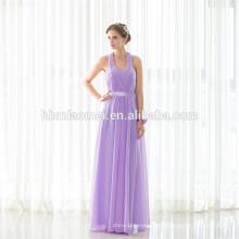 Heißer verkaufender neuer Art Halter-Schulter-langes Abend-Kleid 2017 Großverkauf