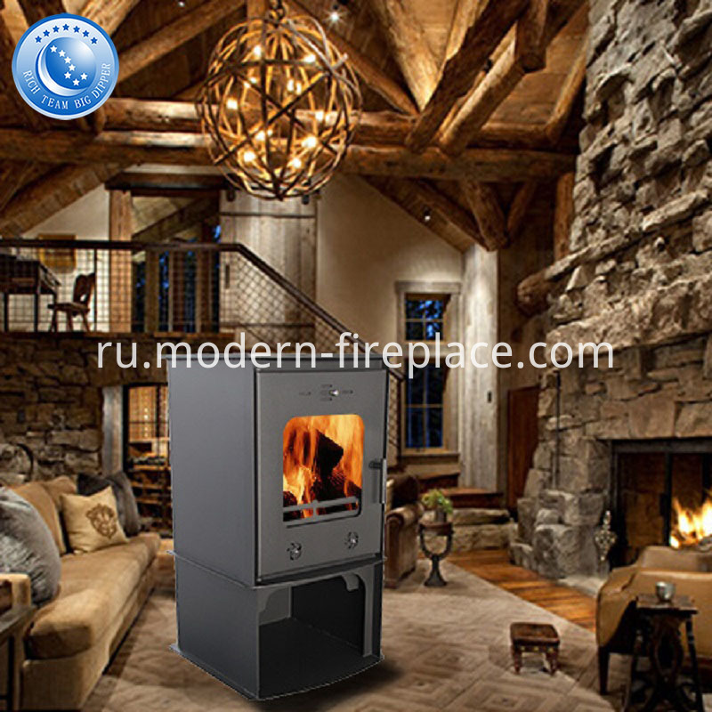 Steel Plate CE Modern Wood Burning Stove