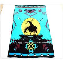 100% полиэстерное печатное одеяло из флиса с естественным дизайном