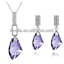 Rani haar jewelry set purple gemstone jewelry set necklace and earring set