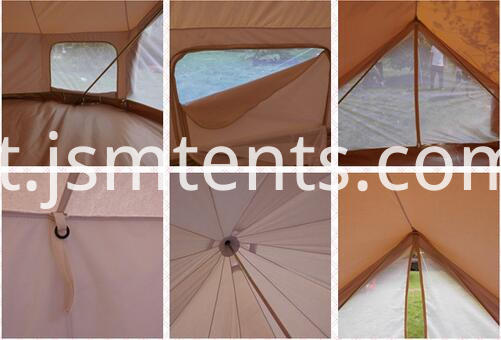 Family Big Roof Canvas Tarp Tent