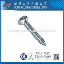 Made in Taiwan Carbon Steel C1008 Zinc Plated Cross Recess Drive Pan Head Self Tapping Screw