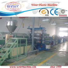 Impressão em três cores Linha de extrusão de borda de PVC Largura da linha 400 mm
