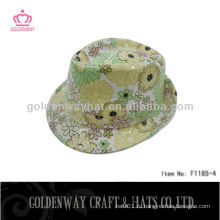 Красивые блестки лето лето шляпы короткие красные девочки желтые шляпы Fedora