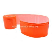 Material reflectante roja para hacer el chaleco de la seguridad