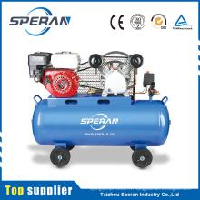 Le meilleur prix 2 cylindres 100 litres piston compresseurs d'air industriels avec moteur à essence