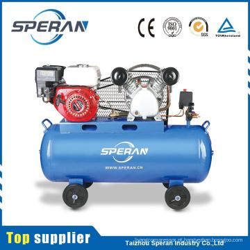 O melhor preço 2 cilindro compressores de ar industriais do pistão de 100 litros com motor de gasolina