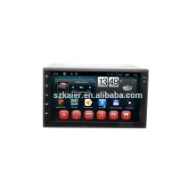 Quad core android, radio del coche sin cubierta con GPS, Bluetooth, PIP, juegos, zona dual, control del volante