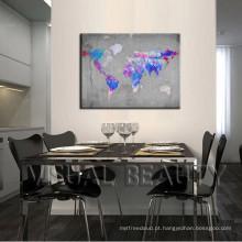 Mapas abstratos do mundo que decoram idéias