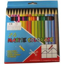 crayon plombé multicolore, crayons de couleur bois