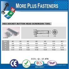Fabricado em Taiwan DIN 7380 Hexagon Socket Button Head Cap DIN 7380