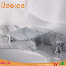 3pieces Baignoire Whirlpool Robinet Cascade