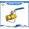 2015 nuevo diseño de cobre amarillo válvula de bola martillo