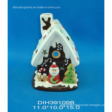 Christmas House Ceramic Tealight Candle Holder