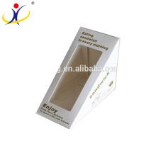 Boîte d'emballage de papier de sandwich de triangle de haute qualité