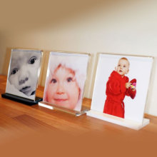 Personalised Bent Acrylic Photo Frames