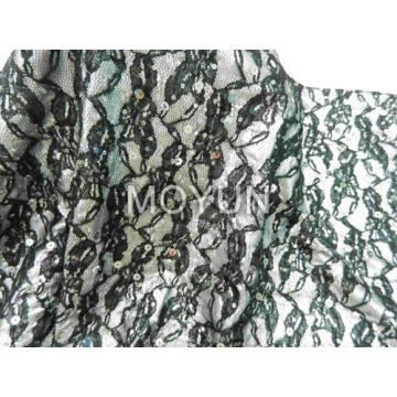 POLY KNITTING WITH FOIL +LACE +3MM +7MM SEQUIN EMBD 50/52""