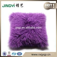 Vente chaude Curl Cheveux longs oreiller mongole en peau de vache