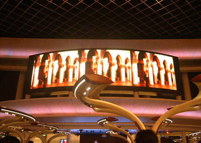 Indoor Curved LED Display with Wide Viewing Angle