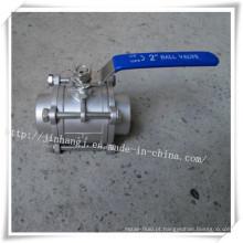 Válvula de esfera de aço inoxidável 3p