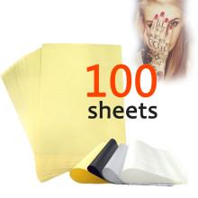 100 листов Татуировка Углеродный термальный трафарет 8.5x11 Ведущие устройства Переносная бумага