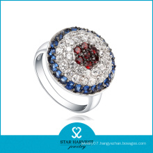 Colorful CZ Setting Silver Jewelry Ring (SH-0051R)