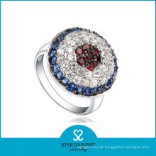 CZ colorido ajustando o anel de prata da jóia (SH-0051R)