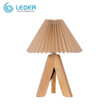 LEDER Brown Wooden Bedroom Light