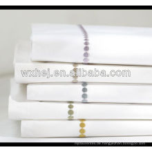 100% Baumwolle weiß Hotel hochwertige Hand Stickerei Kissenbezug