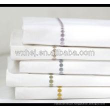 100% algodão branco hotel de alta qualidade mão bordado fronha