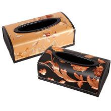 Modische europäische Stil Rechteck Kunststoff Tissue Box (ZJH031)