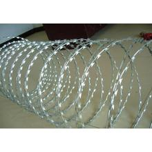 Galvanized Razor Barbed Wire/concertina razor wire