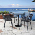 Hollow Design Outdoor Metal Garden Chair and Tulip Table (SP-MC057)