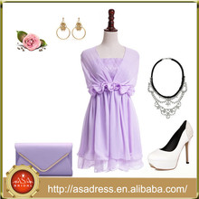 BD111 New Fashion Cheap Girl Homecoming Dresses Convertible Lilac Short Bridesmaid Dress