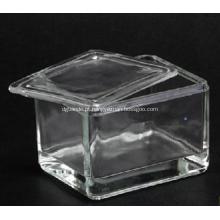 Frasco de coloração de vidro com tampa de vidro para 20pcs slide do microscópio